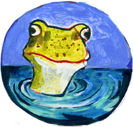 Illustration Hamburg Frosch Portrait